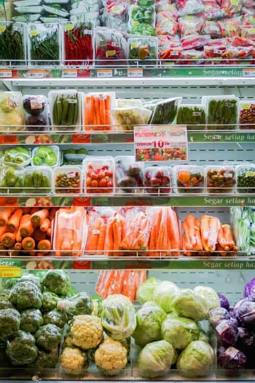 produce on shelf