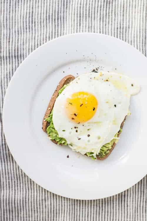 Toast with egg and avocado simple weight loss motivation
