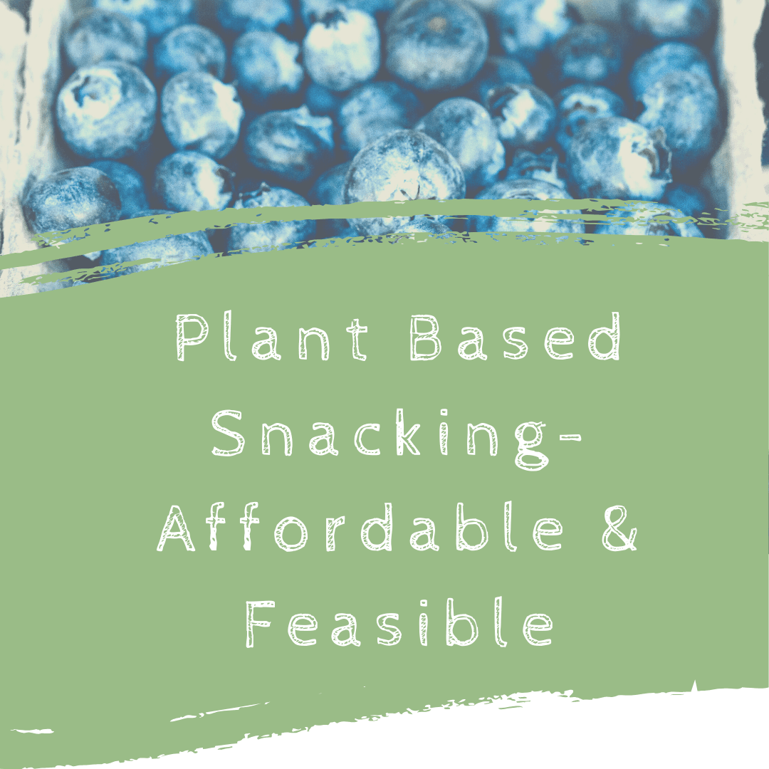 Plant Based Snacking- Affordable and Feasible