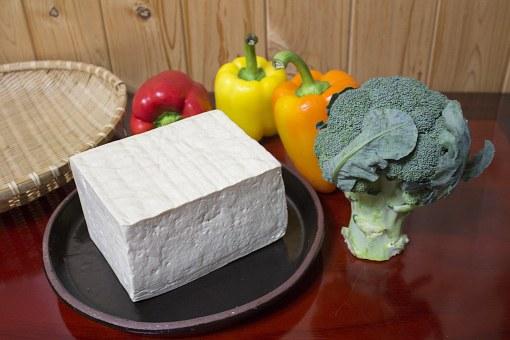 Tofu Block with fresh veggies