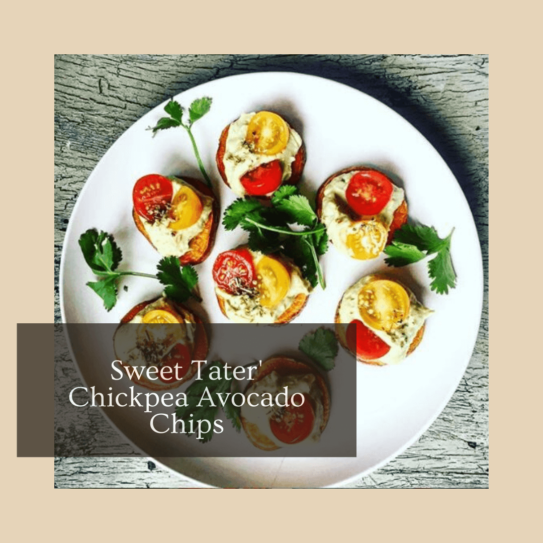 Sweet Tater' Chickpea Avocado Chips