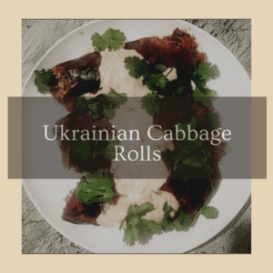Ukrainian Cabbage Rolls In Vegan Cream Sauce