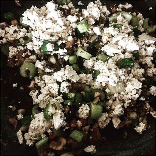 Sauteed veggies and tofu