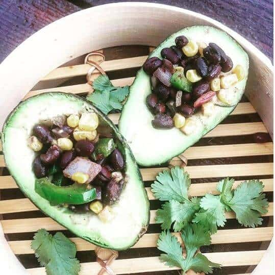 Veggie Stuffed avocado