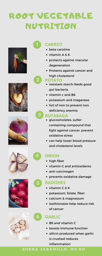 root vegetable nutrition facts