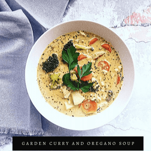 Garden Curry and Oregano Soup