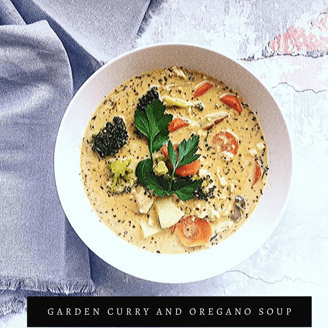 Garden Curry and Oregano Soup