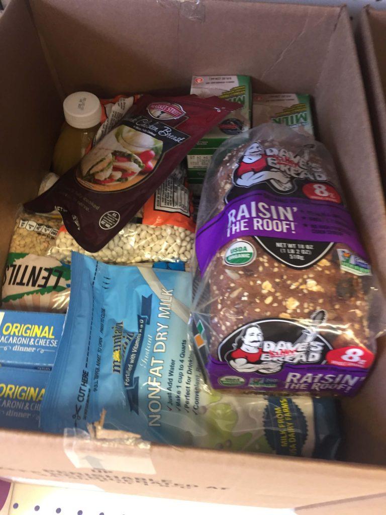 emergency food pantry boxes