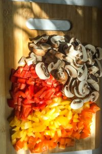 bell peppers and mushrooms