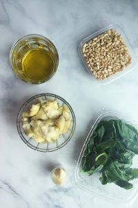 Artichoke Pesto Ingredietns