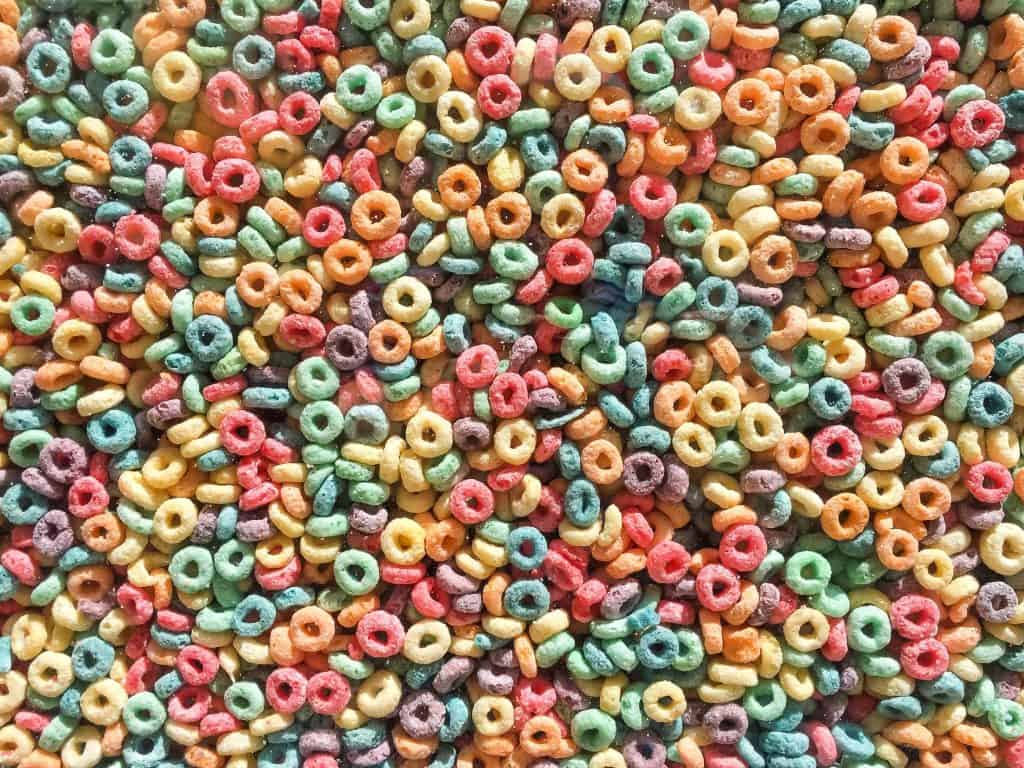 Colored Cereal Loops