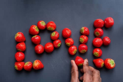 Love with Strawberries