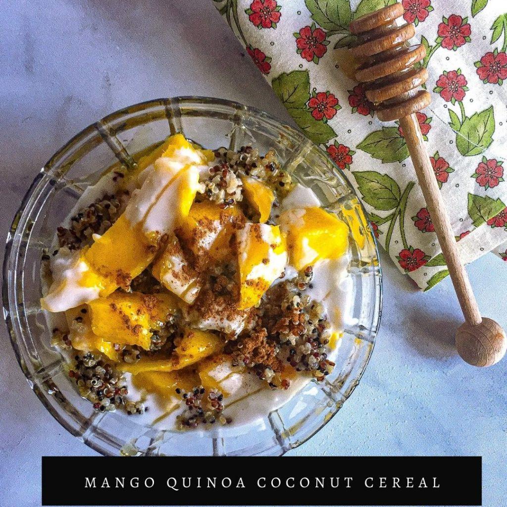 mango quinoa coconut cereal