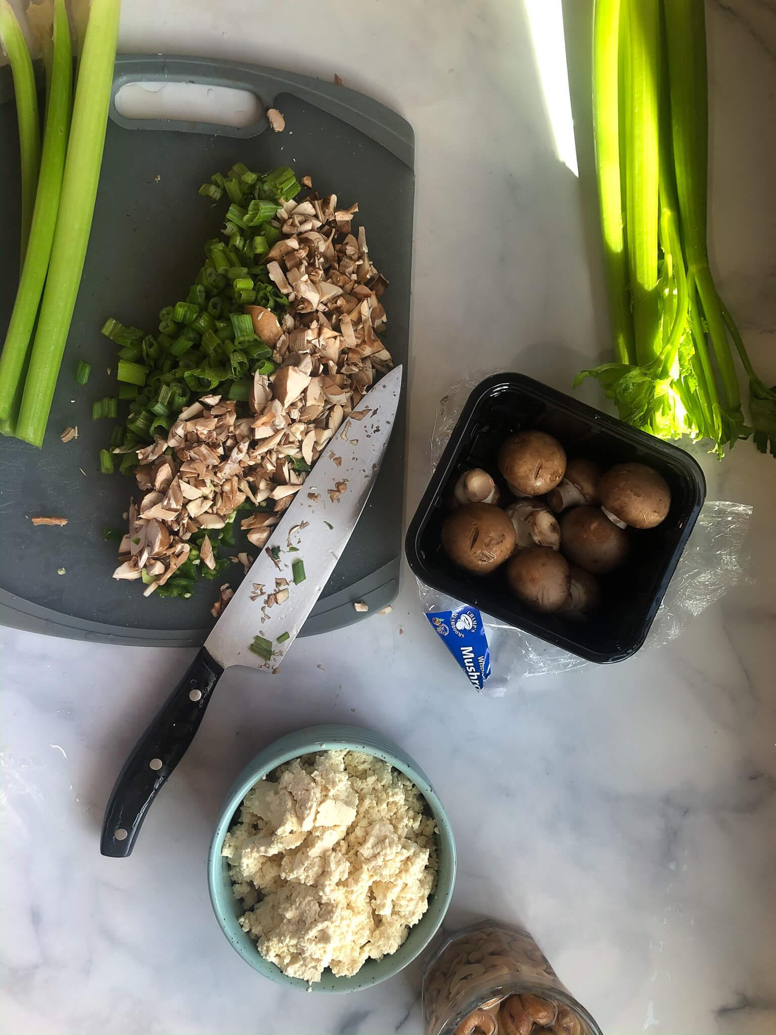 Mixed Veggies On Cutting Board