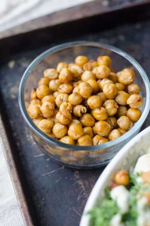 chickpeas in dish