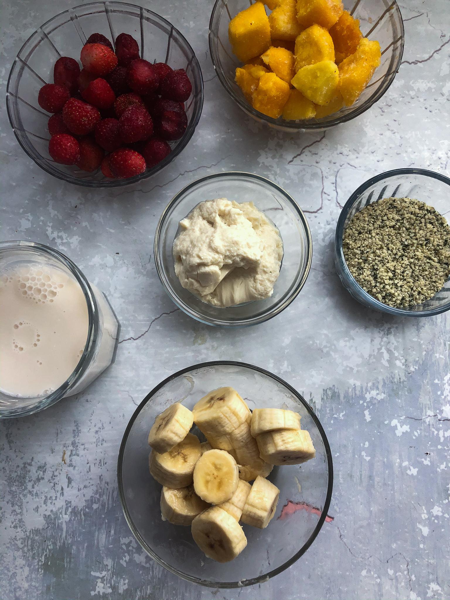 vegan smoothie ingredients