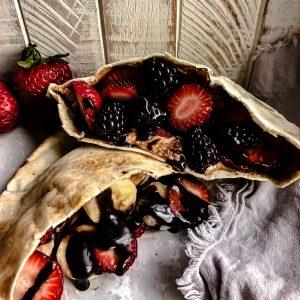 fruit in a pita pocket