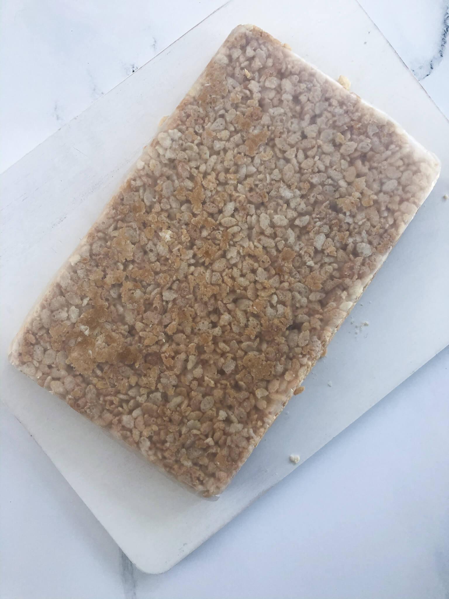 Vegan Rice Crispy Squares With Wax Paper