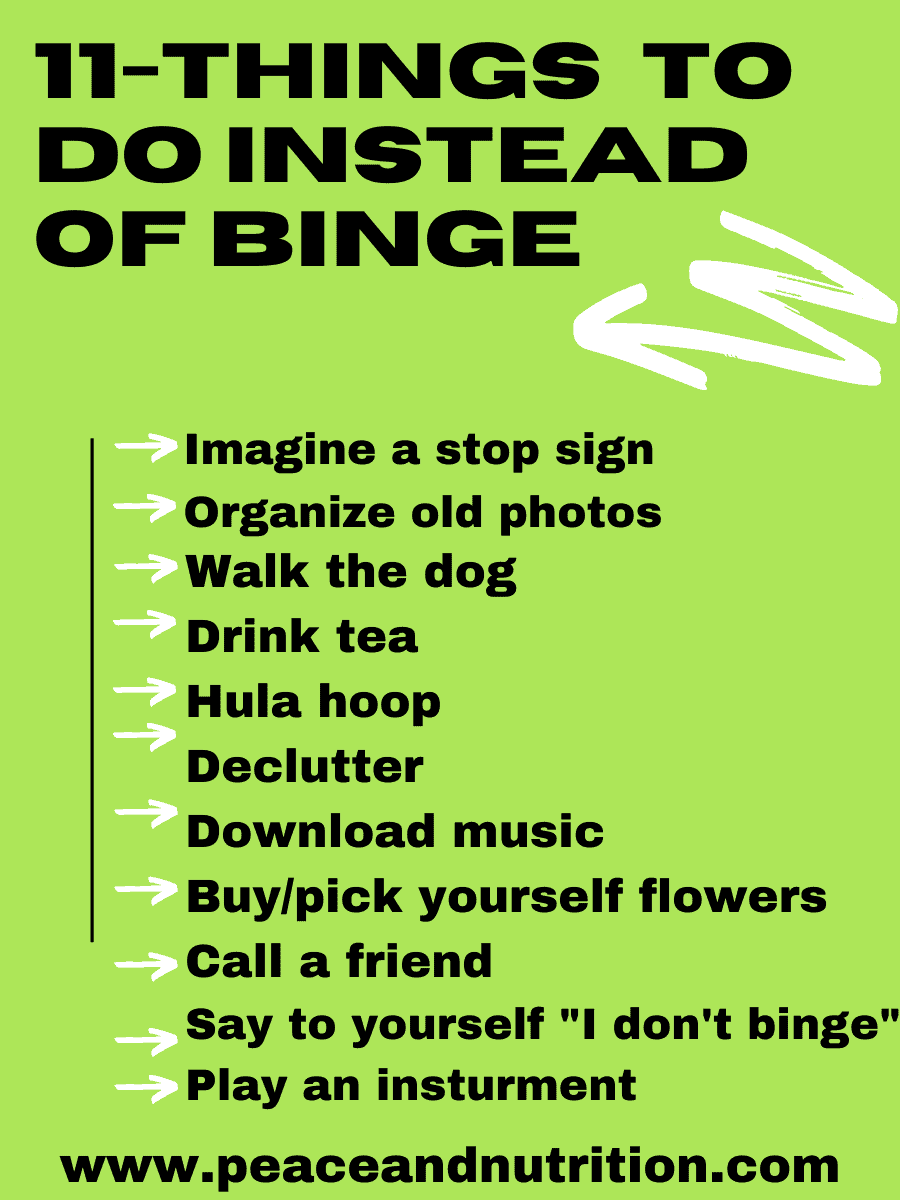 Things To Do Instead Of Binge Eat