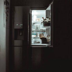 Fridge In Dark Room