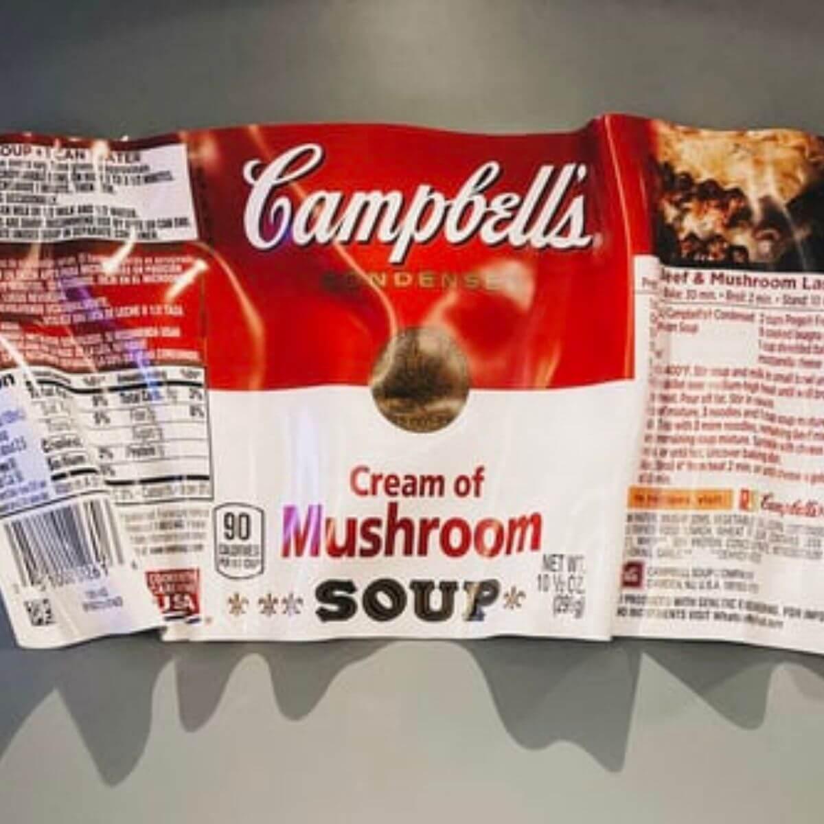 Campbells soup food label