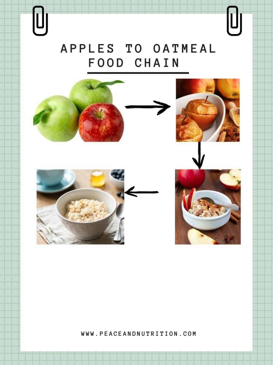 apples to oatmeal food chain