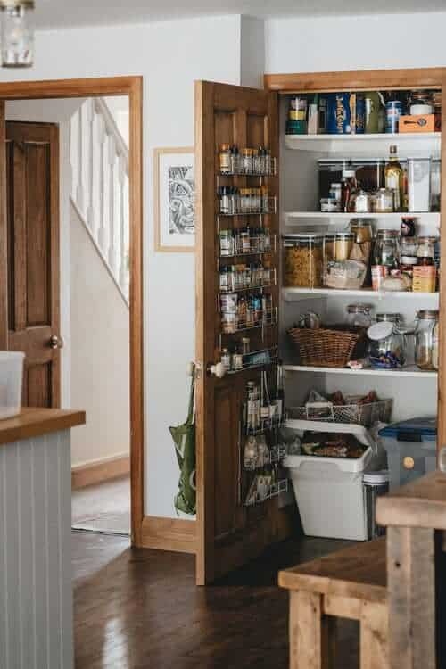 Pantry with food